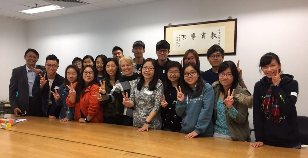16 HKBU students were recruited for the first year (2016-17, first cycle) of the project. They attended the orientation session by the project team on 25 November, 2016.