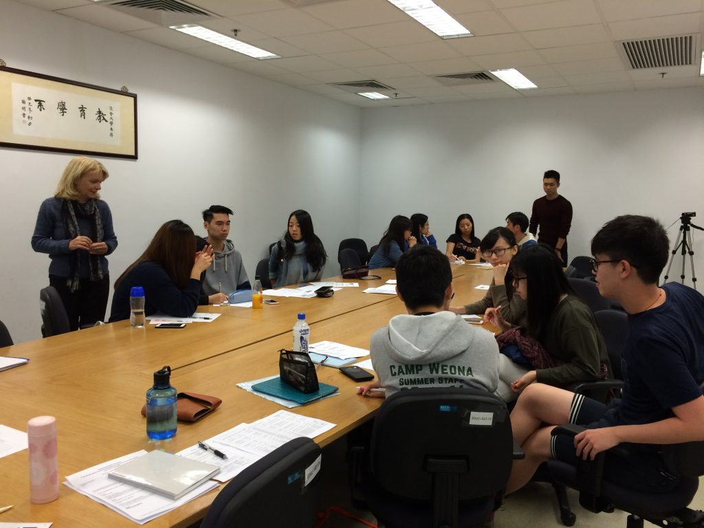 HKBU students discussing in groups