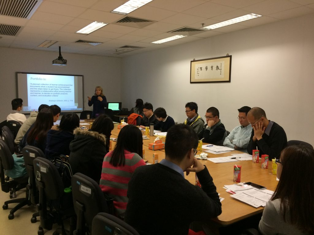 Teachers of the 8 participating secondary schools came to HKBU for a special training session for the project.