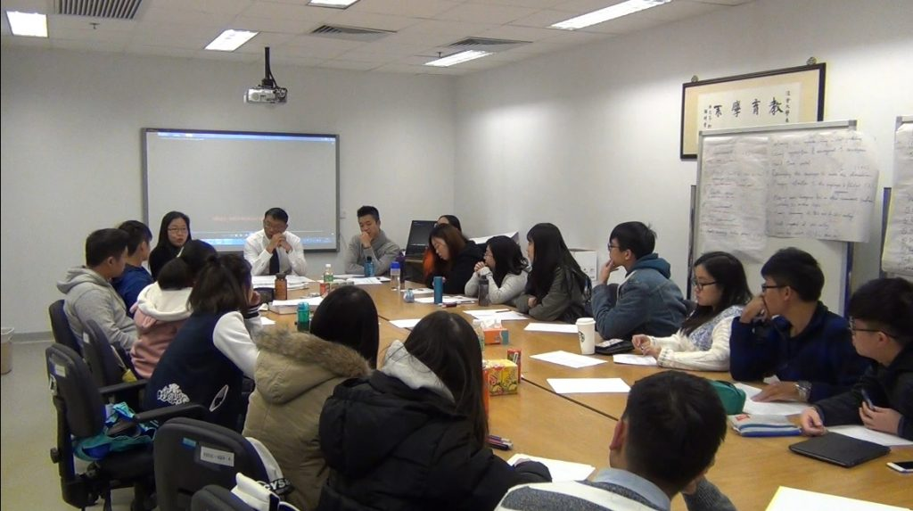 HKBU students will play the role as mentors in the project. This training session focused on how to mentor and how to hold a meeting when they meet the secondary school students.